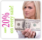 Earn 20% on every sale
